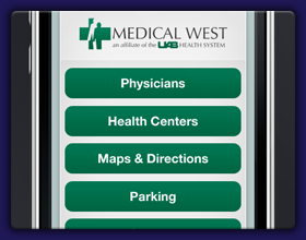 Medical West Hospital Mobile Site