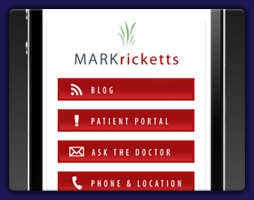 Mark Ricketts Mobile Website