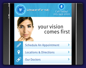 Vision First Mobile Website
