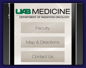 UAB Department of Radiation Oncology Mobile Website