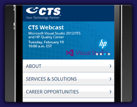 CTS Mobile Website